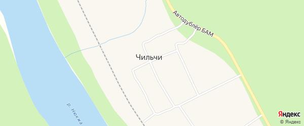 Привокзальная улица на карте поселка Чильчи с номерами домов
