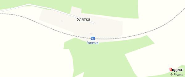 Таежная улица на карте железнодорожной станции Улятки с номерами домов