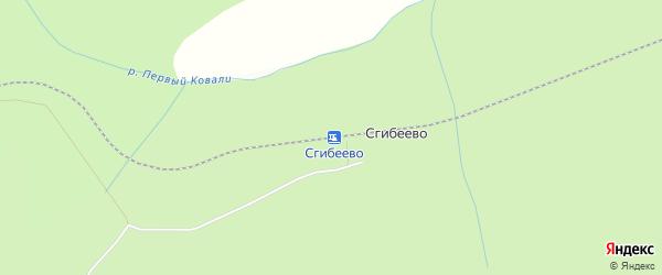 Карта железнодорожной станции Сгибеево в Амурской области с улицами и номерами домов