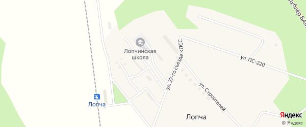 Школьная улица на карте поселка Лопчи с номерами домов