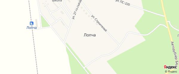 Привокзальная улица на карте поселка Лопчи с номерами домов