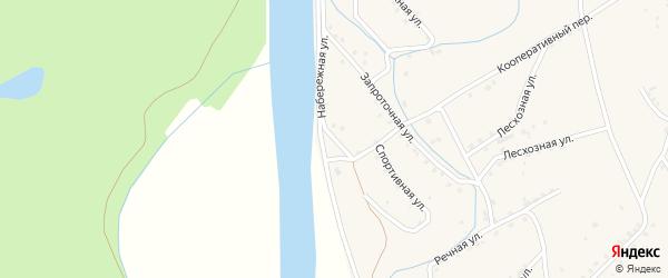 Набережная улица на карте поселка Уруши с номерами домов
