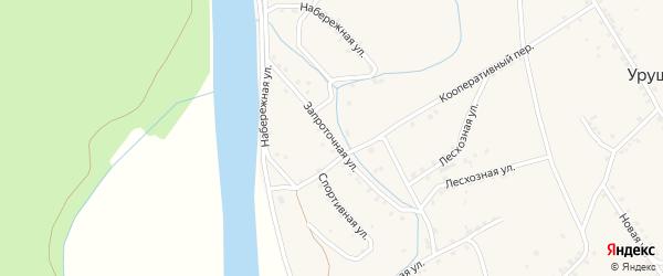 Запроточная улица на карте поселка Уруши с номерами домов