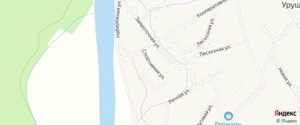 Спортивная улица на карте поселка Уруши с номерами домов