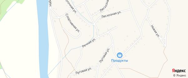 Речная улица на карте поселка Уруши с номерами домов