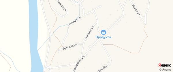 Луговая улица на карте поселка Уруши с номерами домов