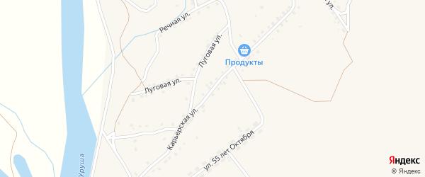 Карьерская улица на карте поселка Уруши с номерами домов