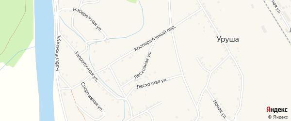 Лесхозная улица на карте поселка Уруши с номерами домов