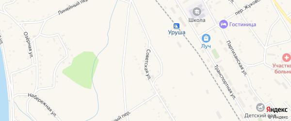 Советская улица на карте поселка Уруши с номерами домов