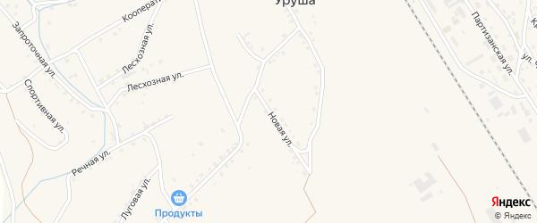 Новая улица на карте поселка Уруши с номерами домов