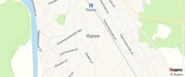 Карта поселка Уруши в Амурской области с улицами и номерами домов