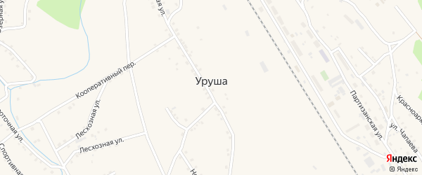 Октябрьский переулок на карте поселка Уруши с номерами домов
