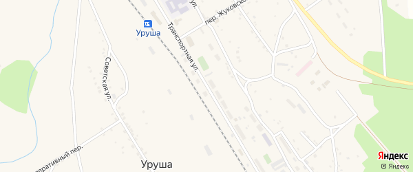 Транспортная улица на карте поселка Уруши с номерами домов
