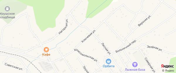 Ключевая улица на карте поселка Уруши с номерами домов
