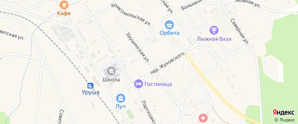 Урушинская улица на карте поселка Уруши с номерами домов