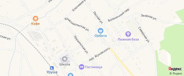 Больничный переулок на карте поселка Уруши с номерами домов