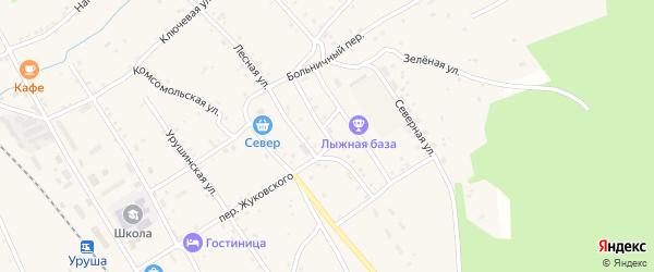 Лесная улица на карте поселка Уруши с номерами домов