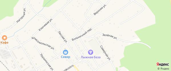 Северная улица на карте поселка Уруши с номерами домов