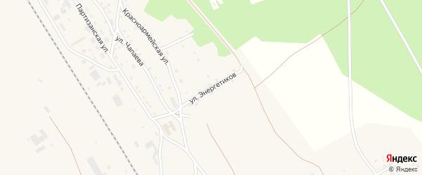 Улица Энергетиков на карте поселка Уруши с номерами домов