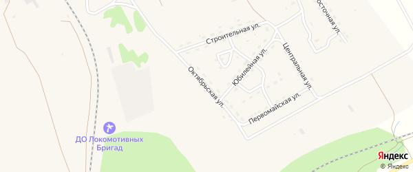 Октябрьская улица на карте поселка Уруши с номерами домов