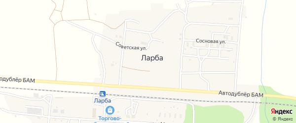Сосновая улица на карте поселка Ларбы с номерами домов