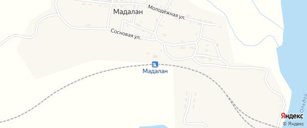 Сиреневая улица на карте железнодорожной станции Мадалана с номерами домов