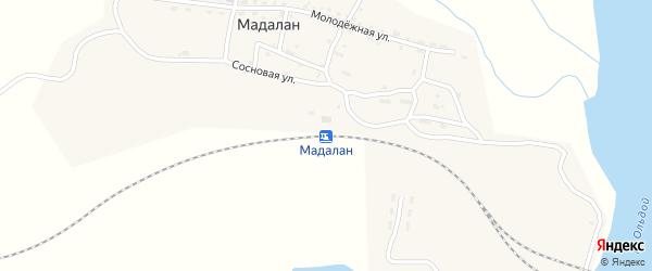 Новый переулок на карте железнодорожной станции Мадалана с номерами домов