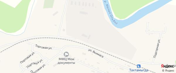 Торговая улица на карте села Тахтамыгды с номерами домов