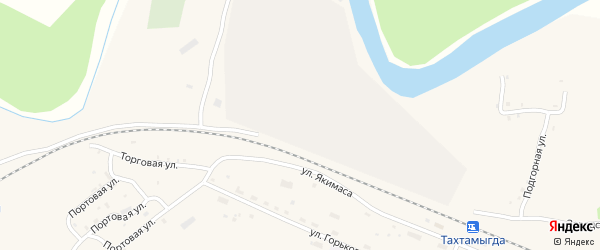 Заозерная улица на карте села Тахтамыгды с номерами домов