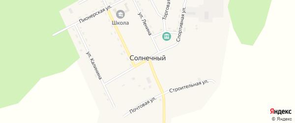 Южный переулок на карте Солнечного поселка с номерами домов