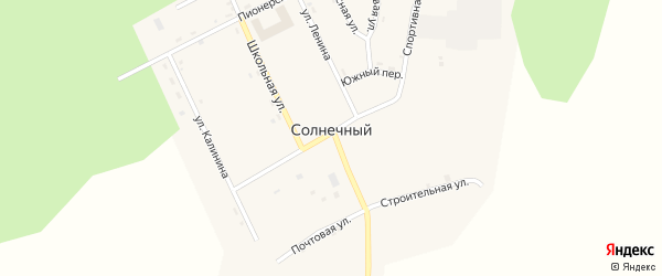 Улица Калинина на карте Солнечного поселка с номерами домов