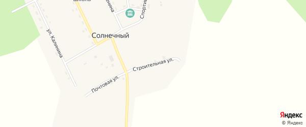 Строительная улица на карте Солнечного поселка с номерами домов
