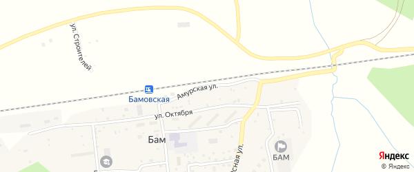 Амурская улица на карте железнодорожной станции Бам с номерами домов