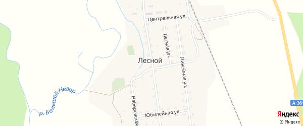 Улица Нестеренко на карте Лесного поселка с номерами домов