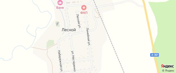 Линейная улица на карте Лесного поселка с номерами домов