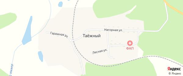 Нагорная улица на карте Таежного поселка с номерами домов