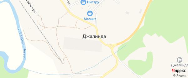 Зеленая улица на карте села Джалинды с номерами домов