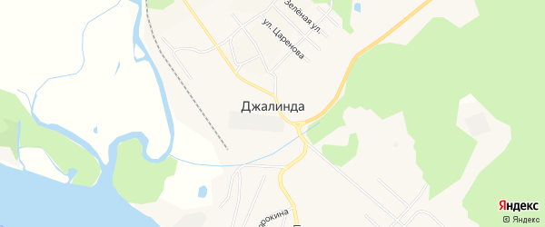 Карта села Джалинды в Амурской области с улицами и номерами домов