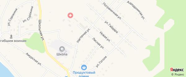 Лесная улица на карте села Джалинды с номерами домов