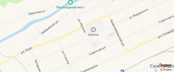 Улица Мухина на карте Сковородино с номерами домов