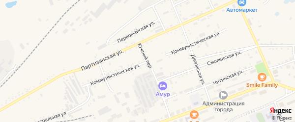 Коммунистическая улица на карте Сковородино с номерами домов