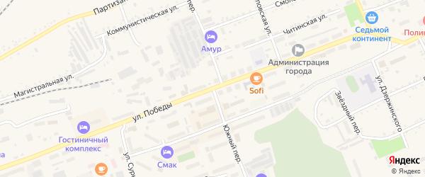 Южный переулок на карте Сковородино с номерами домов