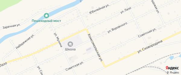 Комсомольская улица на карте Сковородино с номерами домов