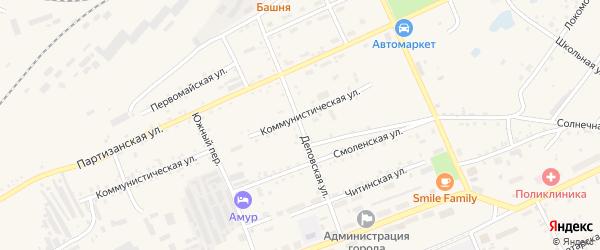 Деповская улица на карте Сковородино с номерами домов