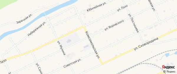 Улица Воровского на карте Сковородино с номерами домов