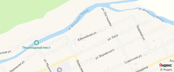 Юбилейная улица на карте Лесного поселка с номерами домов