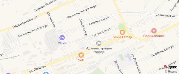 Читинская улица на карте Сковородино с номерами домов