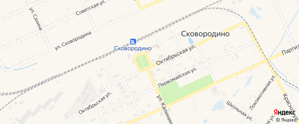 Вокзальная улица на карте Сковородино с номерами домов