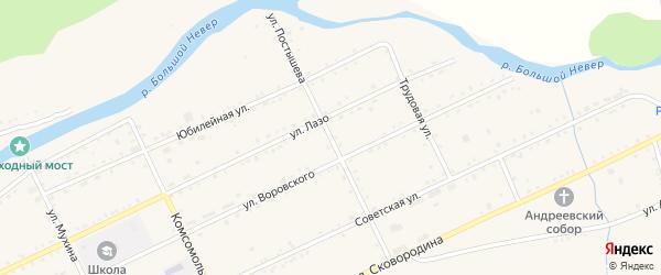 Улица Постышева на карте Сковородино с номерами домов