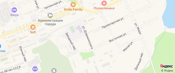 Улица Дзержинского на карте Сковородино с номерами домов